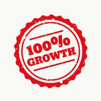 growth stamp in red