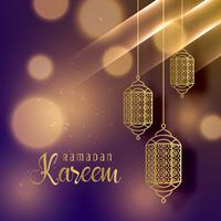 beautiful hanging lamps for ramadan kareem season background