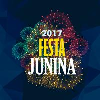 Fondo de fiesta junina con fuegos artificiales.