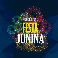 festa junina fond avec feu d'artifice