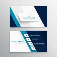 moderne blaue und weiße Visitenkarteschablone