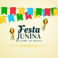 fond de vacances du festival festina junina du Brésil