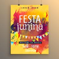 invitation template for festa junina festival design