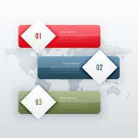 modern three steps infographic template