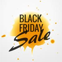 venda de sexta-feira negra design com gota de tinta amarela