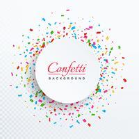 confettis de vecteur coloré isolé sur fond transparent