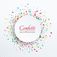 colorful vector confetti isolated on transparent background