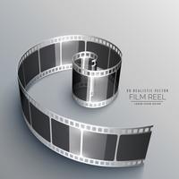 tira de filme em estilo 3d