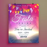 festa junina design del manifesto dell'invito