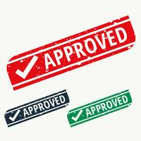 approved stamp sign in different colors