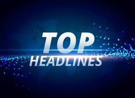 top manchetes notícias fundo conceito