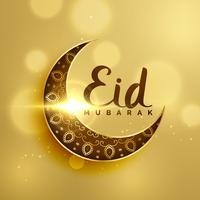 premium maansikkel met florale decoratie voor islamitische eid fes