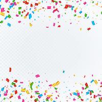 Resumen de antecedentes con el vector de confeti cayendo