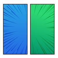 design de bandeira de estilo cômico azul e verde