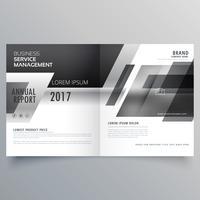 modelo de página de livreto de revista elegante tema preto e branco
