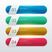 vier stappen kleurrijke infohraphic sjabloonontwerp