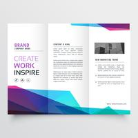 abstract colorful tri-fold brochure design template