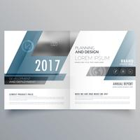modern business bifold brochure template with abstract shapes
