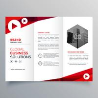 modelo de folheto de negócios com três dobras de negócios para a sua marca