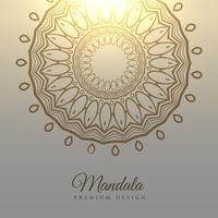 Fondo de tarjeta de diseño elegante mandala