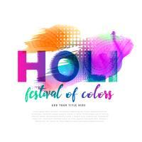 våren holi festival färgstark bakgrundsdesign