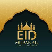 eid Mubarak Festivalgruß-Hintergrunddesign