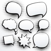 set of empty comic chat bubble in vector