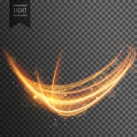 Fondo de efecto de luz transparente ondulado