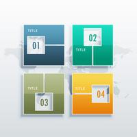 infographic vector template with four options for business conce