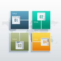 Infographik Vektor Vorlage mit vier Optionen für Business conce