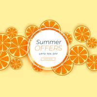 oranje fruitachtergrond voor de zomerverkoop