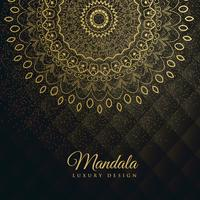 premium background with golden mandala decoration