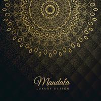 premium achtergrond met gouden mandala decoratie