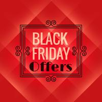 red background for black friday event. Black friday sale poster