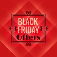 fondo rojo para el evento de viernes negro. Cartel de venta viernes negro