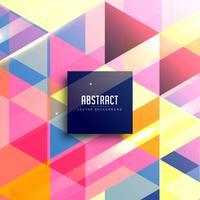 vector de fondo geométrico colorido abstracto