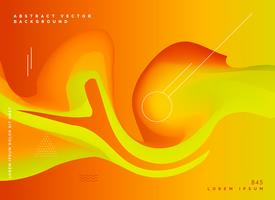 abstract orange fluid colors vector backgroud