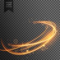effet de lumière dorée magique sur l'arrière-plan transparent
