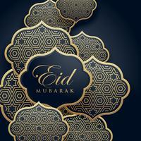 Diseño de tarjeta de felicitación decoración festival islámica eid