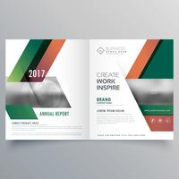 modern style business bifold brochure design template