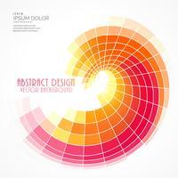 bright mosaic spiral background