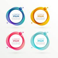 trendy circle banners set with text space