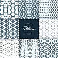 set of abstract geometric pattern vector design background