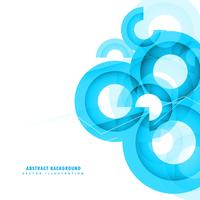 diseño de fondo abstracto azul círculos