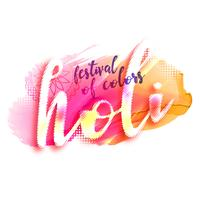 illustration av holi festivaldesign affisch