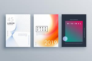 cover template in minimal style with abstract line shapes and co