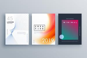 omslagsjabloon in minimalistische stijl met abstracte lijnvormen en co