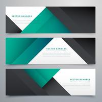 minimale set van banners en headers