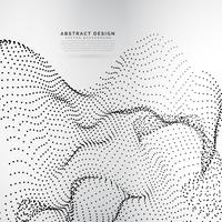 array in dynamische deeltjes in golvende mesh-stijl