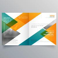 creative business bi fold brochure design template